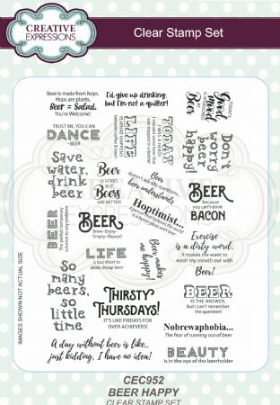 Clear Stamp Sets - Beer Happy